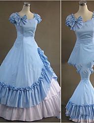 Uma-Peça/Vestidos Gótica Lolita Cosplay Vestidos Lolita Vintage Poeta Manga Curta Comprido Vestido Para Outro