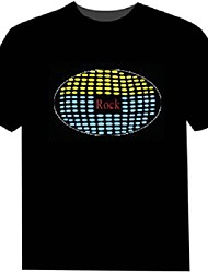 Tee-shirts LED 100% Coton 2 Piles AAA