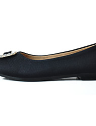 Women's Loafers & Slip-Ons Casual Fabric Spring/Fall Casual Sparkling Glitter Low Heel Ruby Black Flat