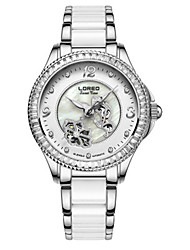 Women's Fashion Watch Mechanical Watch Automatic self-winding Water Resistant / Water Proof Ceramic Band White