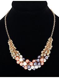 Mujer Collares con colgantes Collares de cadena Perla artificial Joyas Perla Artificial LegierungDiseño Básico Diseño Único Perla Amistad