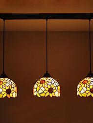 Подвесные лампы ,  Тиффани Прочее Особенность for Антибликовая Водонепроницаемый Металл Гостиная Столовая Коридор 3 луковицы