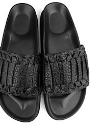 Men's Slippers & Flip-Flops Nappa Leather Spring Black Flat