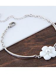 Women's Charm Bracelet Fashion Shell Alloy Flower Jewelry 1pc