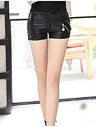 Women's Low Rise Micro-elastic Shorts Pants,Simple Slim Solid