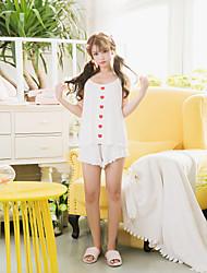 Maillot de bain pour femme à 2 pièces en mousseline de soie sans manches