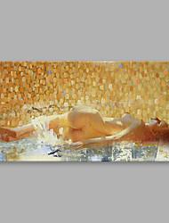 Картина маслом ярца современная абстрактная женщина лежат на стороне искусство акриловые холст стены искусство для домашнего украшения