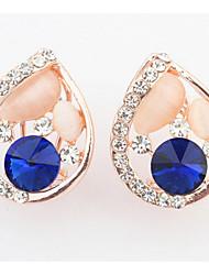 Stud Earrings  Women's Girls' Korean Style Opal Rhinestone  Friendship Delicate Droplets Earrings Set Movie Jewelry