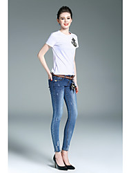 WEIWEIMEI Women's High Rise strenchy Jeans PantsSimple Skinny Solid