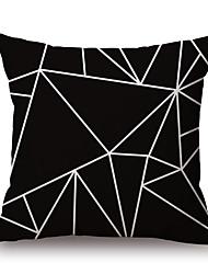 1 PC Algodón/Lino Cobertor de Cojín Funda de almohada,Diseño Geométrico Novedad ModaGeométrico Vintage Casual Retro Tradicional/Clásico