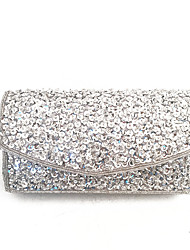 Women Beads Sequins Fashion Clutches Evening Silver