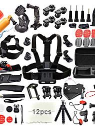 QQT for 50 in 1 Go Pro Accessories Kit Set stick Monopod Swim Bobber Chest Strap for Gopro Hero 5 4 3  2 xiaomi yi SJCAM SJ4000 action camera