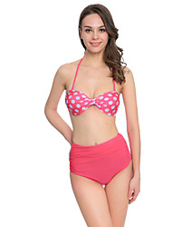 Venus Queen Women's Halter Bikini Dot Polka Dot