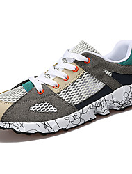 Men's Athletic Shoes PU Spring Summer Low Heel Black Ruby Green Under 1in