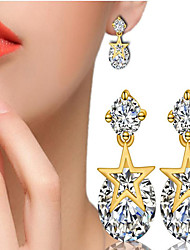 May Polly  Simple fashion all-match inlaid CZ Star Earrings