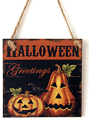 Manufacturer direct sale wooden handicraft Halloween of the wooden ghost festival the pumpkin brothers adornment board
