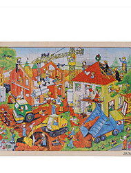 Jigsaw Puzzles Jigsaw Puzzle Building Blocks DIY Toys Square Wood