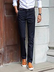 Homme simple Taille Normale Micro-élastique Costume / Tailleur Pantalon,Mince