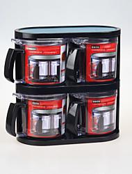 4 Kitchen Stainless steel Plastic Shaker & Mill