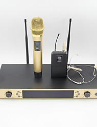 UHF Karaoke Wireless Microphone System With BodyPack Handheld Transmitter Headset  Microphone