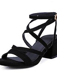 Women's Sandals Gladiator Comfort Suede Spring Casual Brown Black Flat