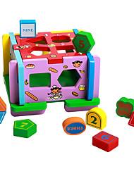 Barraca de Brinquedo Jogos de Madeira para presente Blocos de Construir Madeira Natural 3-6 anos de idade Brinquedos
