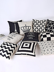 1 Pcs 45*45CM hold office sofa Cotton  Pillow Case  Geometry Black and White Simple Wind Nordic wind