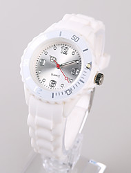 Women's Fashion Watch Japanese Japanese Quartz / Silicone Band Casual White Silver