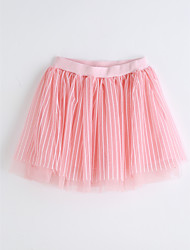 Girls Striped Skirt-Cotton Summer
