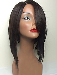 New Style Brazilian Virgin Hair Bob Wigs Straight Front Lace Human Hair Wigs Short Virgin Hair Bob Wig with Side Bang