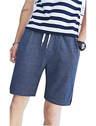 Homme simple Taille Normale Micro-élastique Short Pantalon,Large Bandes Rayé
