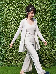 3pcs женщин пижамы установить твердые простые кружева карман случайные пижамы
