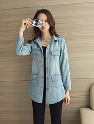 Giacca di jeans Da donna Bavero classico Manica lunga