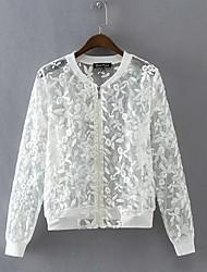 Women's Jacket V Neck Long Sleeve