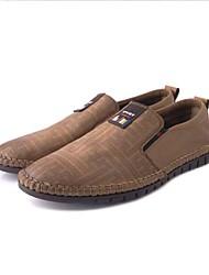 Для мужчин Мокасины и Свитер Удобная обувь Формальная обувь Ткань Микроволокно Весна Осень Повседневные Для прогулокУдобная обувь