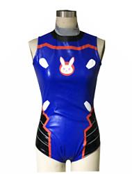 Inspiré par Overwatch D.Va Vidéo Jeu Costumes de Cosplay Costumes Cosplay Maillots de Bain N/C Sans Manches Collant