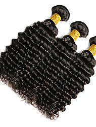 Full Head 100g/1pcs Deep Wave 10-20Inch Natural Black Human Hair Weaves