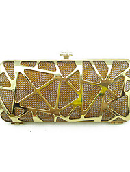 Women Delicate Metal Framed Evening Bags And Clutches Gold/Silver/Black/Brown/Red