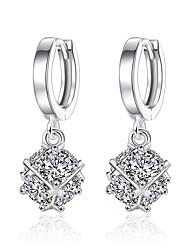 Boucles d'oreille goutte Opale Original Carée Argent sterling Zircon Bijoux Pour Mariage Soirée Quotidien Décontracté 1 paire