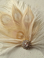 Hand Made Wedding Feather Hair Fascinator Headpieces Fascinators Headbands Hair Accessories Feather Wigs Accessories For Women 055