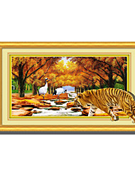 3D Tiger Night Lights Wall Poster Adhered PVC  Decorative Skin Wall Stickers  for Bedroom