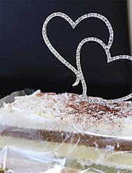 Украшения для торта Сердца Хрусталь Сплав Свадьба Для вечеринок Особые случаи День рожденияСад Цветы и растения Бабочки Сказка Рождение