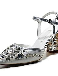 Damen Sandalen PU Sommer Silber Flach