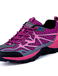 Women's Athletic Shoes Comfort Fabric Spring Fall Athletic  Flat Heel Ruby Purple Hiking Shoes