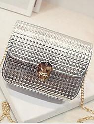 Women Shoulder Bag PU All Seasons Round Zipper Gold Black Silver