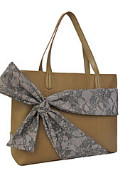 Kate&Co. luxury fashion leather handbag ladies bow TH-02117 camel 14 inch (can be placed on the notebook computer)