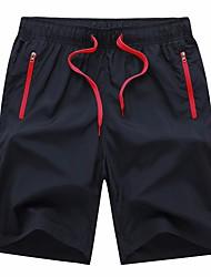 Men's Running Shorts Quick Dry Crop for Running/Jogging Exercise & Fitness Racing Basketball Football/Soccer Terylene Loose Orange Red