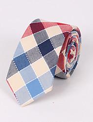 Men's Fashion Cotton Lattice Casual Tie
