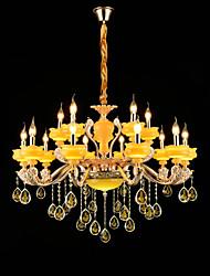 Lampe suspendue Alliage de Zinc Fonctionnalité for Cristal Style mini Métal Intérieur Couloir Magasins/Cafés 15 ampoules
