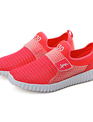 Women's Athletic Shoes PU Spring Summer Low Heel Ruby Blue Blushing Pink Under 1in